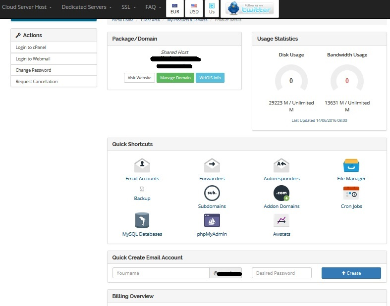 Billing Account-Manage-cPanel