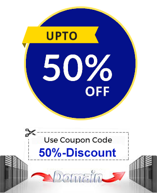 Register or Transsfer Any Domain and Get 50% Discount To Any Shared Hosting Plan
